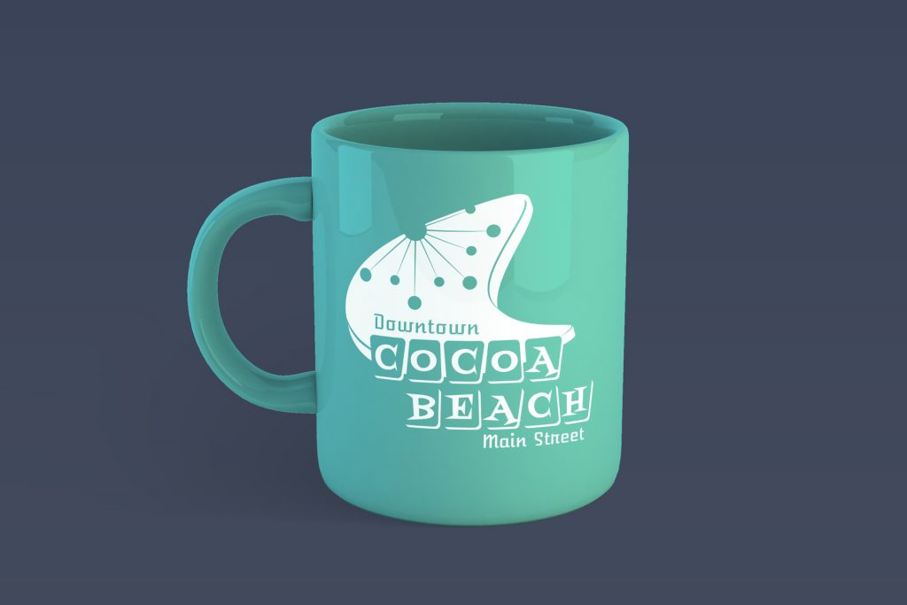 Cocoa Beach Main Street One Color Mug