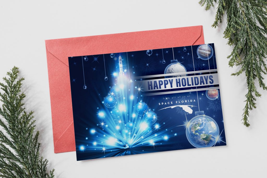 Space Florida 2018 Holiday Card