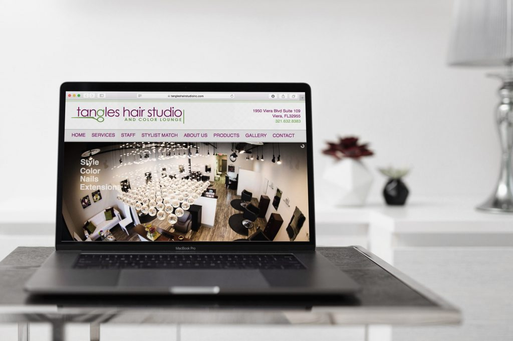 Tangles Hair Studio Website